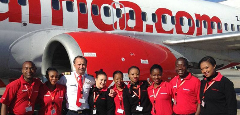 flyafrica.com serves six airports; Windhoek-Johannesburg is #1 route